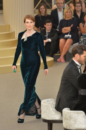 Julianne Moore models Chanel couture.