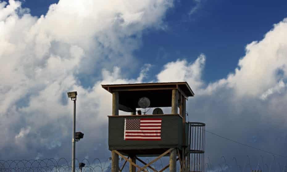 A guard post at the Guantánamo Bay detention centre in Cuba