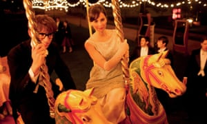 Felicity Jones and Eddie Redmayne on a merry-go-round in the Theory of Everything