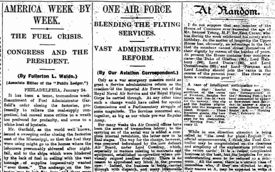The Observer, 17 February 1918.