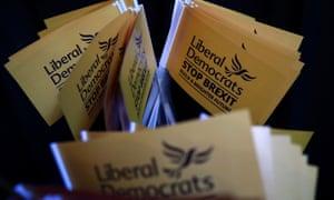 Liberal Democrat campaign leaflets