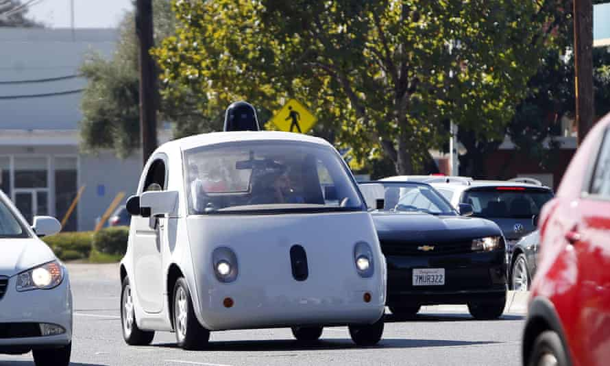 A Google self-driving car was trying to navigate some sandbags when it collided with a public bus