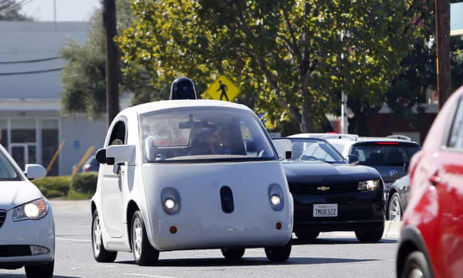 A Google self-driving car in Silicon Valley.