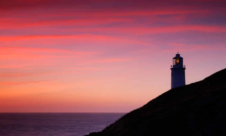Trevose lighthouse near Padstow, Cornwall