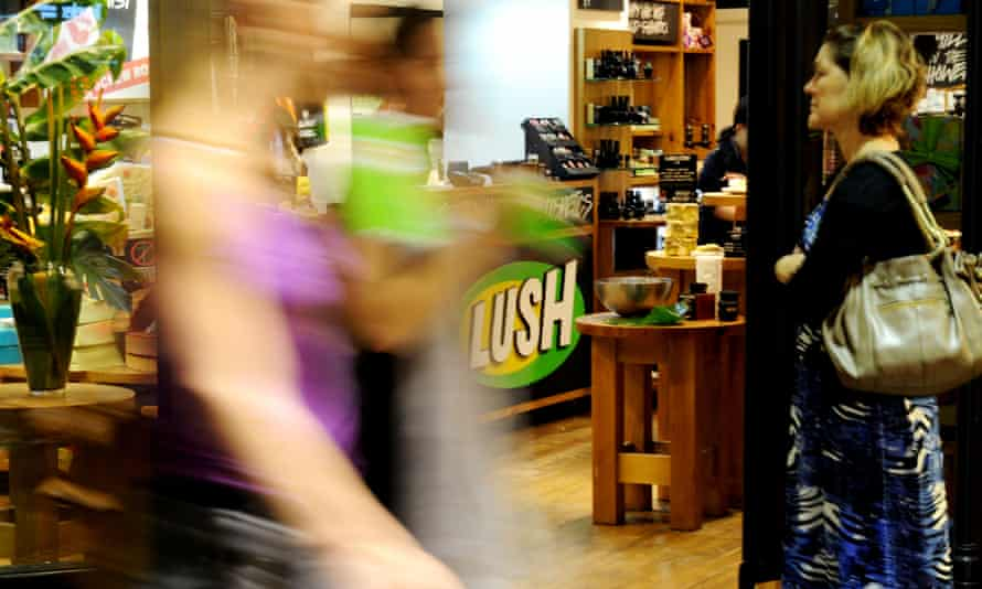 A Lush cosmetics store in Sydney
