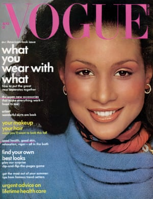 I've had the pleasure of knowing Beverly Johnson for a few years now. She's one of the most beautiful women ever. She walks into a room and changes the energy immediately. She has that rare blend of charisma and personality that equals magnetism. My interview with her blew me away. People think that there was this rivalry and battle between Beverly and Iman to be the first black woman on the cover of American Vogue, but Beverly booked this cover – shot by Francesco Scavullo – in 1974, two years before Iman arrived in the US from Africa and began modelling.