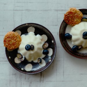 Thomasina Miers' vanilla yoghurt panna cotta with oat biscuits