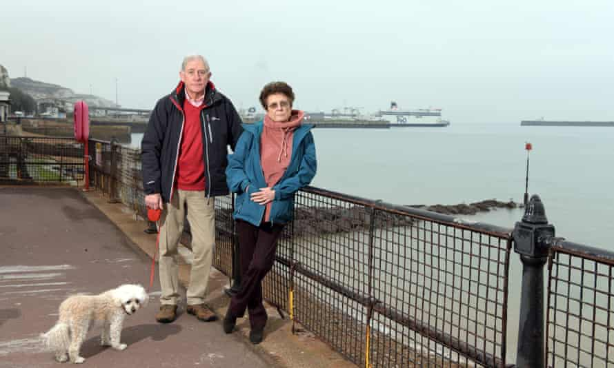 Stephen and Jayne Easton on Marine Parade in Dover, UK