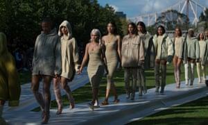 f9dc4549b36 Kanye West's Yeezy show: fake Malia Obama and terra firma bodycon ...