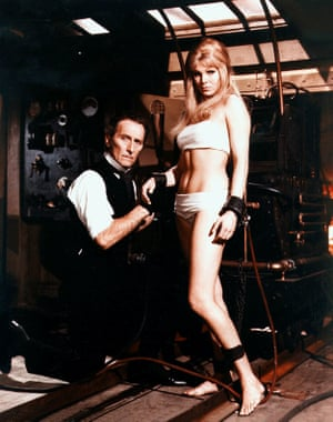 Peter Cushing and Susan Denberg in Frankenstein Created Woman
