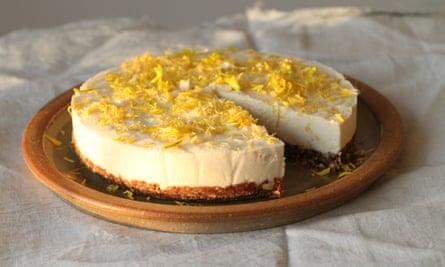 Tom Hunt's no-bake coconut lemon cheesecake.