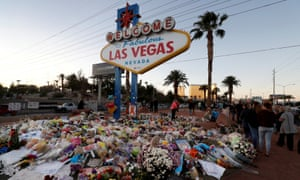 A memorial to the victims who died in the Las Vegas shooting.
