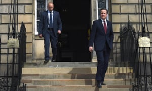 David Cameron leaves Bute House following a meeting with Nicola Sturgeon