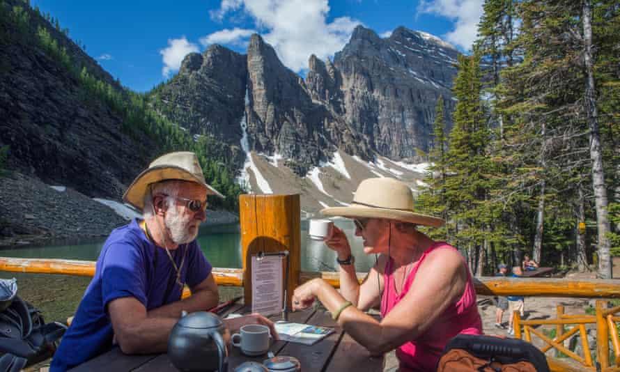 tea house at lake Agnes near Lake Louise, Canada