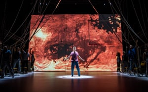 Matthew Tennyson, centre, in A Monster Calls by Patrick Ness at the Old Vic, directed by Sally Cookson. (Opening 17-07-18)