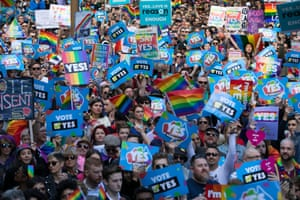 The rally is believed to have been the largest LGBTI rights crowd in Australia's history