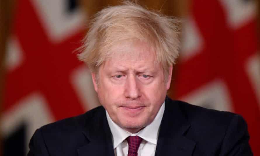 Boris Johnson announces the tougher restrictions on Saturday