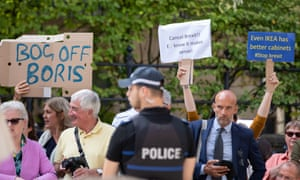 The protesters Boris Johnson tried to avoid.