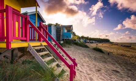 Beach huts at Wells-next-the-Sea.