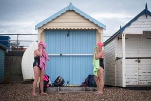 The beach huts at Thorpe Bay