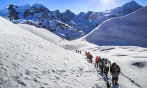 Crossing thorong La Pass, Annapurna circuit, Nepal