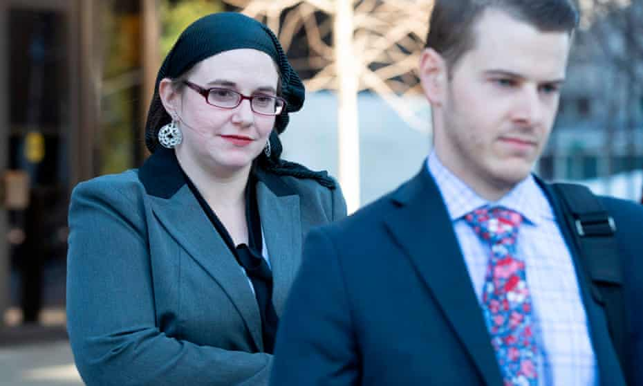 Caitlin Coleman leaves the Ottawa court house in Ottawa, Ontario on Wednesday.