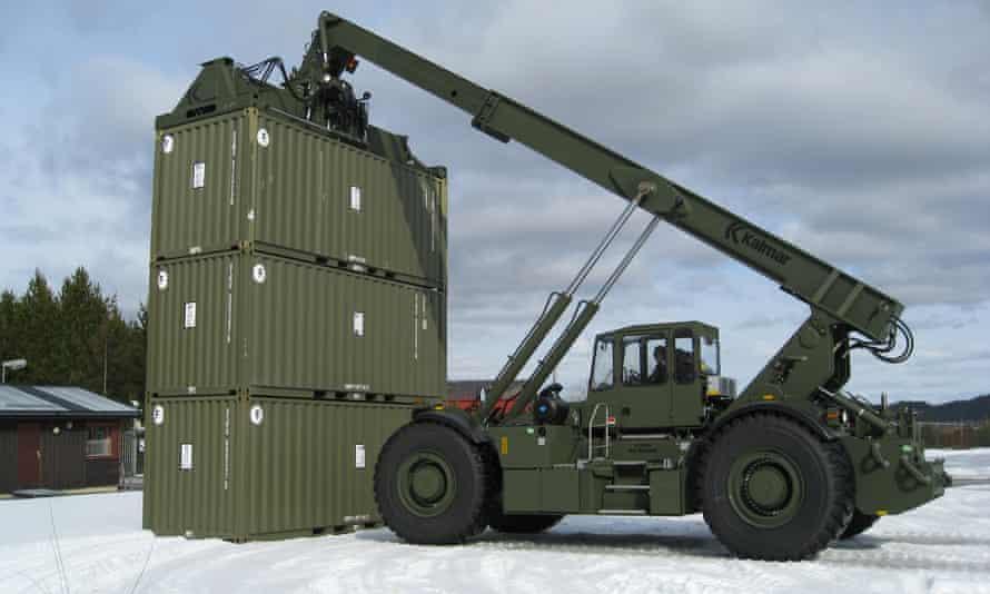 Kalmar Rough Terrain Center has an alternative idea for that physical barrier: shipping containers.