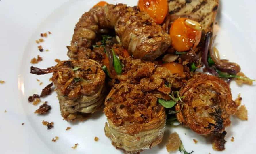 A dish at the Kantin restaurant in Nişantaşi