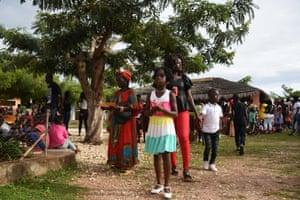 A graduation celebration at a local Catholic School on Bubaque Island.