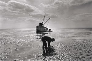 Traditional cockle fishermen, Norfolk, 1988