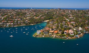 An aerial view of Vaucluse in Sydney's eastern suburbs.