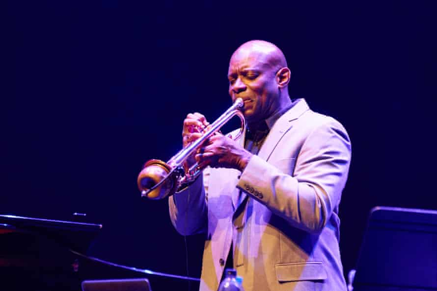 Ron McCurdy performing The Langston Hughes Project: Ask Your Mama at the Barbican, London.