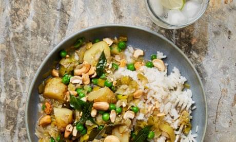 Meera Sodha's vegan recipe for leek, potato and cashew nut curry