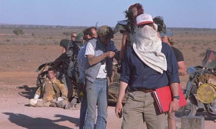 George Miller on the set of Mad Max 2: The Road Warrior