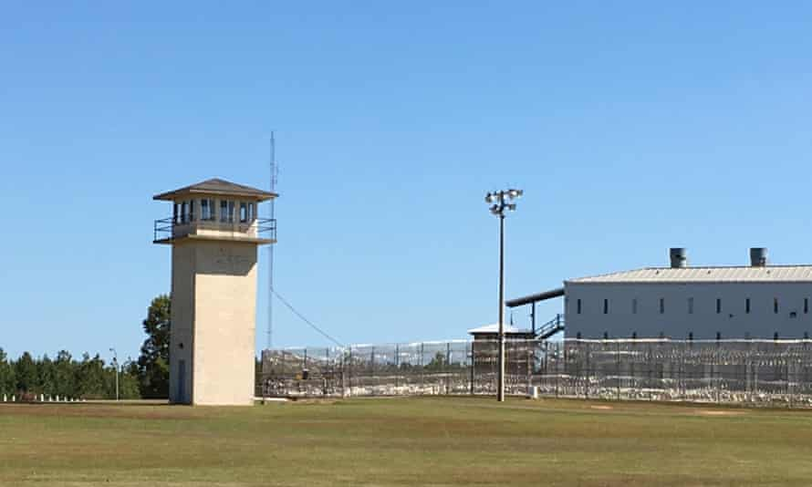 A guard tower at Holman penitentiary in southern Alabama.