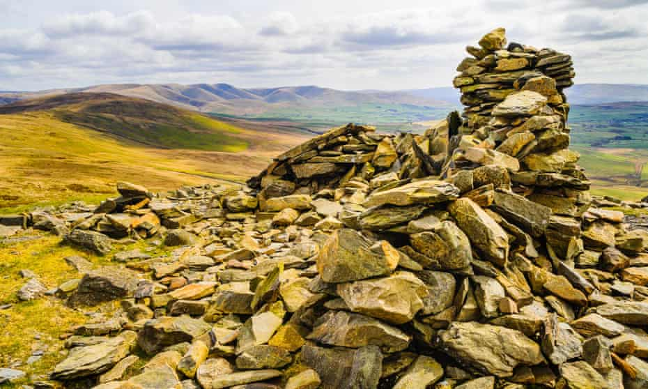 Summit cairn on Whinfell Beacon.