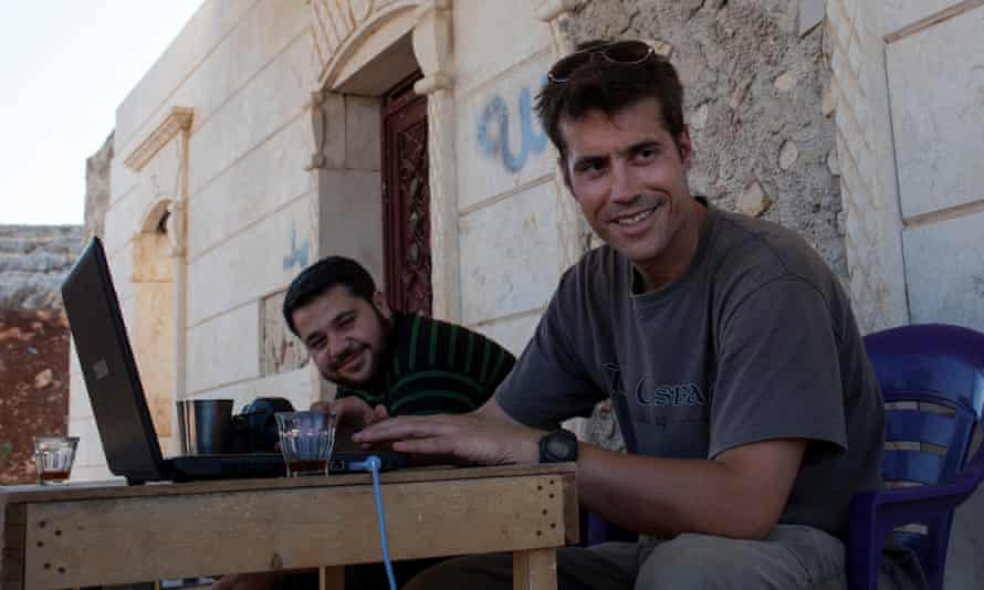 US photojournalist James Foley, right.