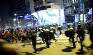 Police disperse Turkish protesters gathering outside the Turkish consulate in Rotterdam