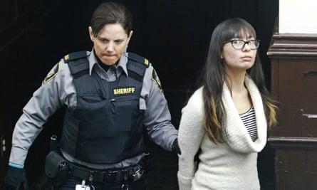 Lindsay Souvannarath arrives at court in Halifax, Nova Scotia, Canada on 6 March 2015.