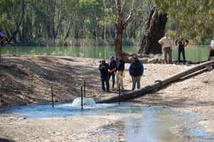 Conservation interests and agencies gathered along the Murray River in Australia to witness the return of water to a wetland system that now rarely receives floodwater from the river