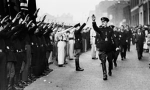 Oswald Mosley intended to march his blackshirts – pictured on parade in Royal Mint Street, London, a few days before the battle – through the East End's Jewish district.