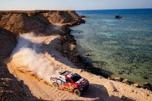 Toyota Gazoo Racing's Nasser Al-Attiyah Nasser and co-driver Matthieu Baumel