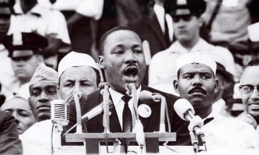 A spokesperson for 'good' identity politics … Martin Luther King delivers his 'I Have a Dream' speech.