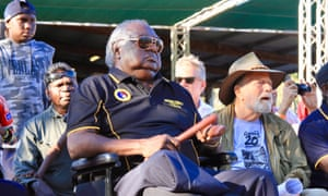 Galarrwuy Yunupingu and Jack Thompson at the 2018 Garma festival in Arnhem Land.