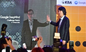 Demis Hassabis of DeepMind with Lee Se-dol
