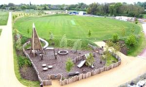 Eddington's cricket pitch and adventure playground.