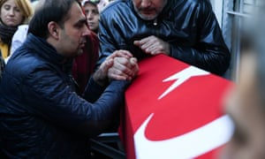 The funeral of an Istanbul nightclub attack victim.