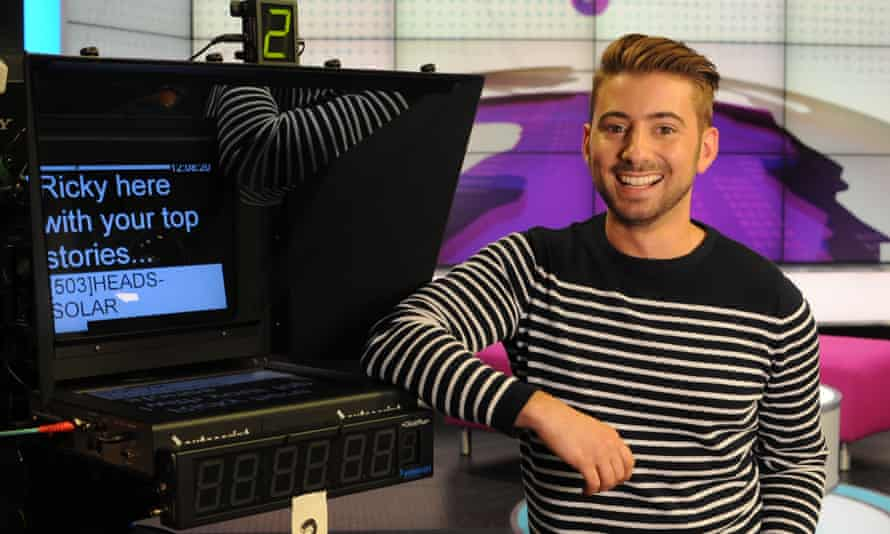 BBC Newsround presenter Ricky Boleto on the studio of the children's news programme