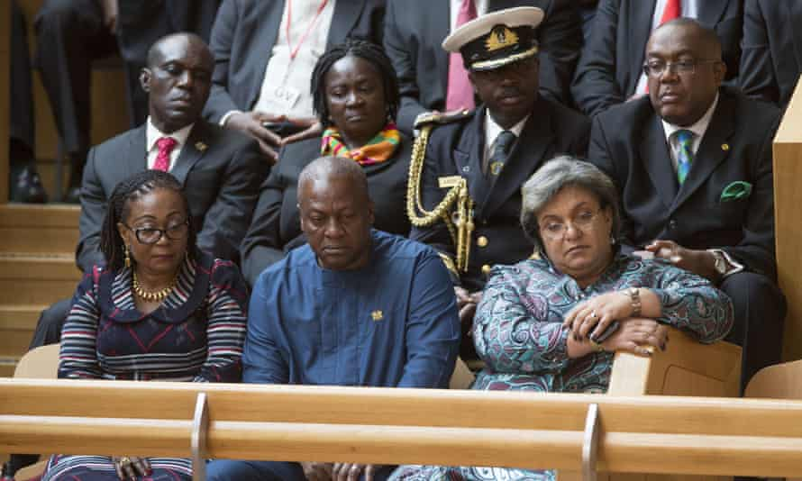 John Dramani Mahama at first minister's questions in the Scottish parliament.