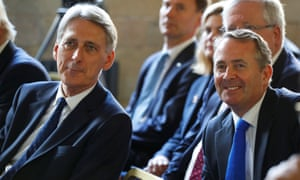Chancellor of the exchequer Philip Hammond (left) and international trade secretary Liam Fox.